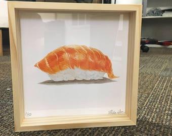 Framed Sake (Salmon) - Limited Edition PRINT