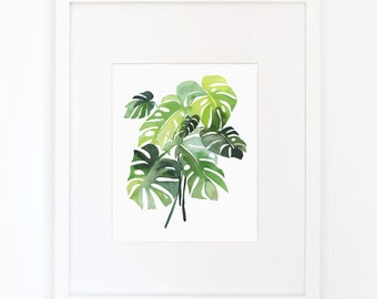 Philodendron - Watercolor Art Print