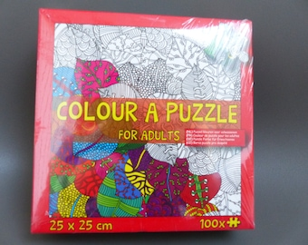 puzzle coloring for adults to assemble, paint, remove, reassemble. coloring page