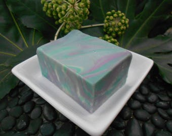 Cloudy Day Rain Soap - All Natural Soap, Handmade Soap, Handcrafted Soap, Bar Soap, Rain Scented Soap, Purple and Blue Soap, Mountain Rain