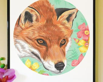 Animal Art Print (Fox)