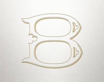 Single Antique Letter - B - Antique Letter - Digital