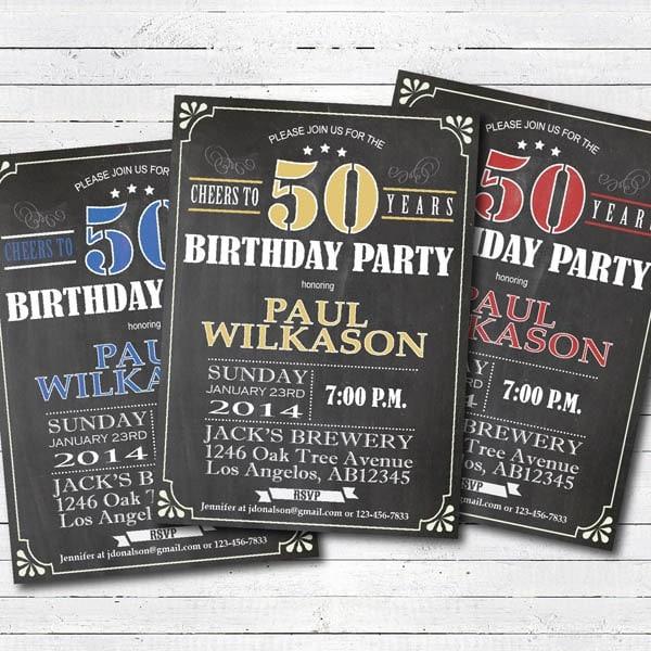 50th birthday invitation man cheers to 50 birthday invite zoom filmwisefo