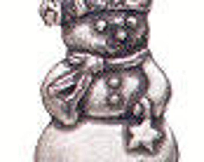 Snowman pewter shank Danforth button