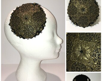 Fascinator 'Filligree'  with beautiful filigree ornaments.  headdress, headpiece* Elegant Curiosities *