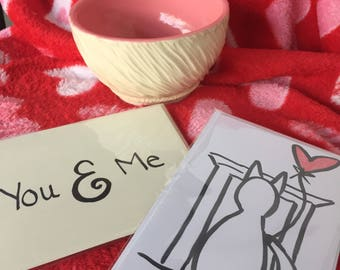 Hand Illustrated Cards- Valentines Card- Love- Valentines - Thank You- Cute Cards- Snail Mail