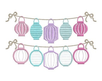 5 Chinese Lanterns Garland