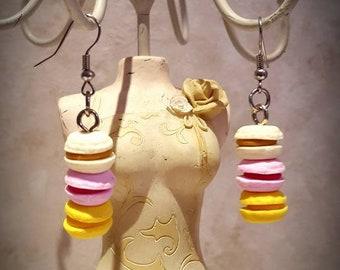 "Boucles d'oreilles ""Trio macarons"""