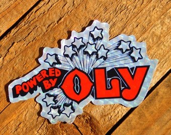 Vintage 70s Powered By Oly Olympia Beer Sticker
