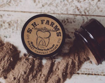 All Natural Tooth Powder - Menthe Fraîche Original patented recipe!