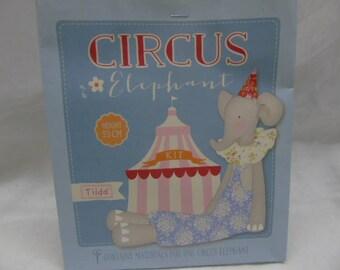 "TILDA ""CIRCUS"" elephant plushie kit"