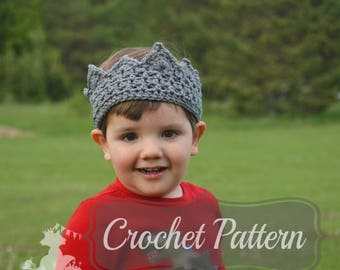 Crochet Pattern, Boys Crown Pattern, Birthday Crown, Crochet Crown PDF, Girls Crochet Crown, Little Prince Crown, PDF Pattern Crochet