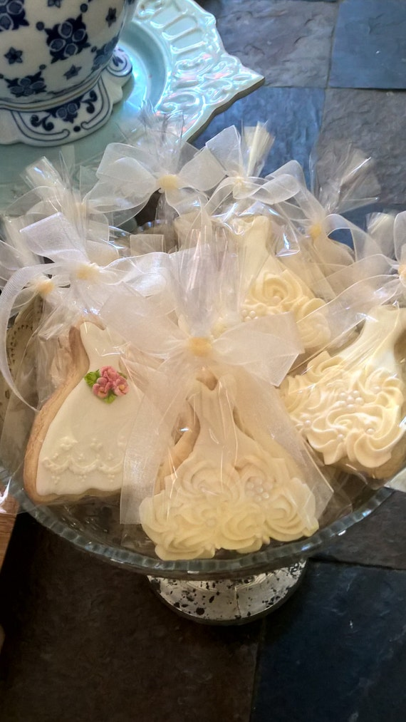 50 Pieces Petite Sized Wedding Dress Cookies - Cookie Favors, Wedding Cookies,  Bridal Shower Cookies, wedding gown cookies