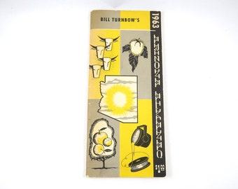 1963 Arizona Almanac, Bill Turnbow's, Political, Economics,  AZ Position Holders, Term Over Date, Taxes, Annual Publication Report