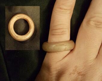 Wood veneer ring