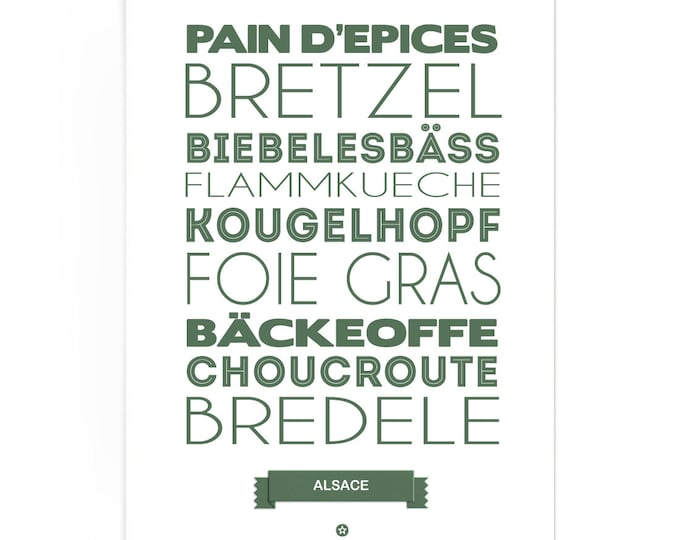 Poster Alsace Foodie