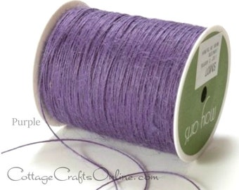 Burlap Cord String Purple - 400 YARD ROLL - May Arts, Natural Jute Twisted Burlap String, Packaging, Scrapbook Twine Lavender #07