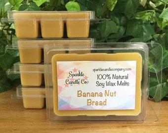 Soy Wax Melts BANANA NUT BREAD Scented Tart - 1 package - Fall Wax Melts