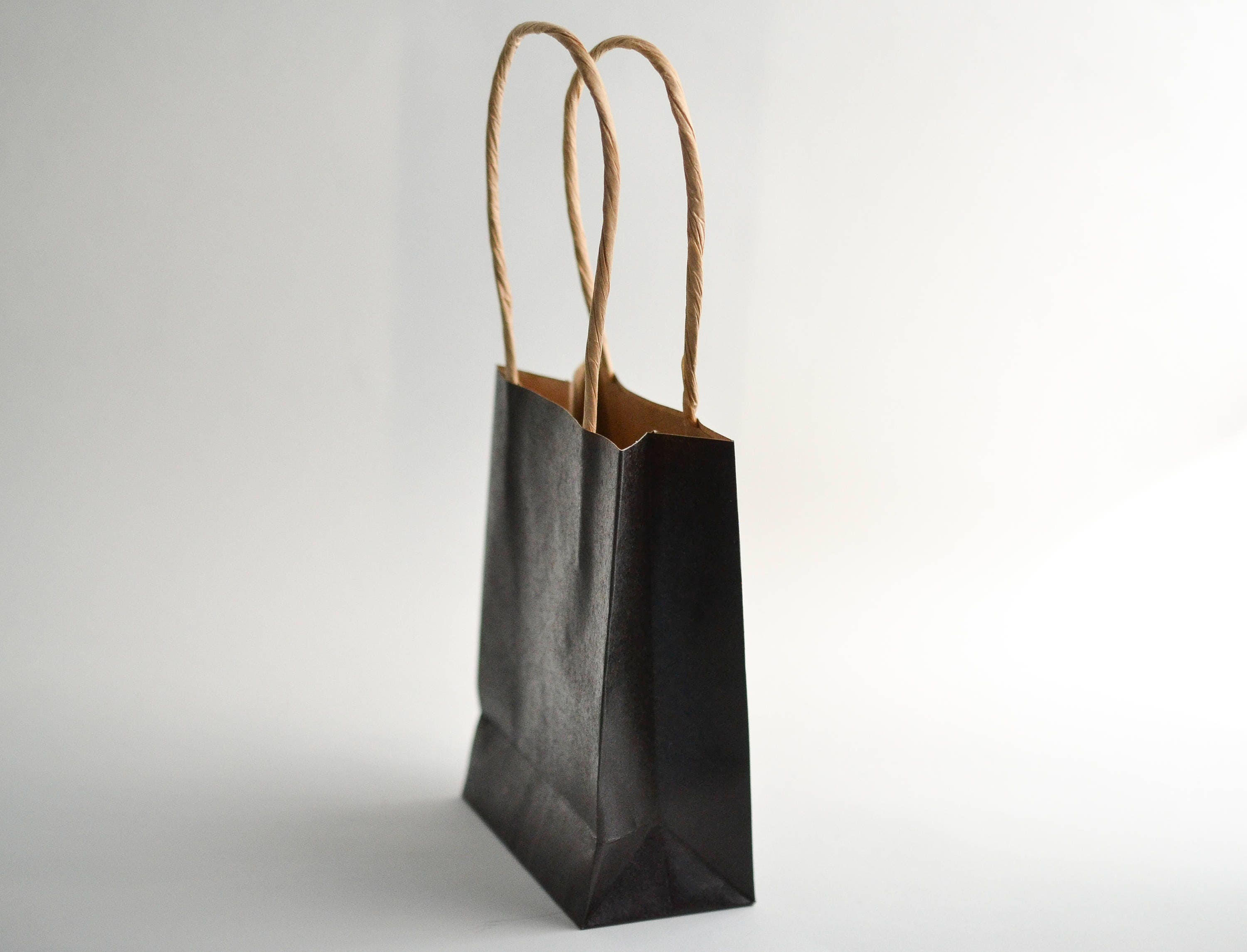 Black Gift Bags with Handles, Chalkboard Paper Bags, Mini Paper Bags ...