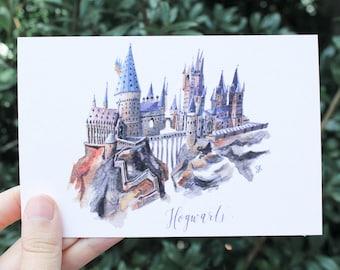 Hogwarts (Harry Potter) // Postcard