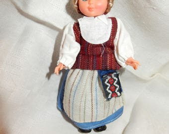 Swedish folk costume doll in national costume for the province of Halland
