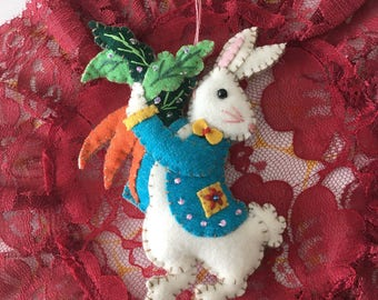 Felt Peter Rabbit Easter Decor