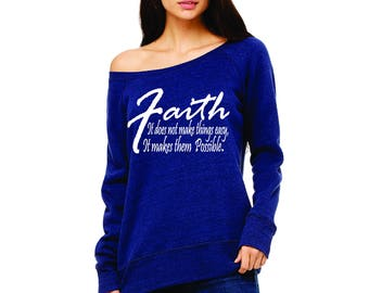 Faith off the Shoulder Shirt