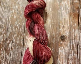 100% superwash merino   100g 256 yards dk weight  Hand dyed yarn indie dyed yarn