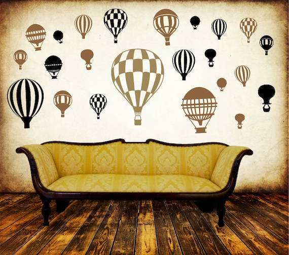 Hot Air Balloon MURAL DECAL PACK-Choose any 3 colors!