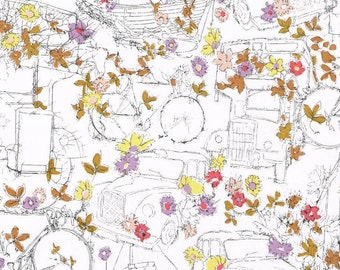 Tana lawn fabric from Liberty of London, Travelling Threads