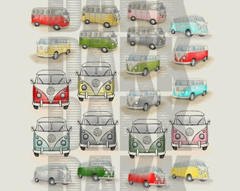 Volkswagen Bus PNG & JPG Files