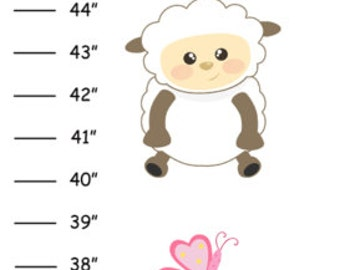 Personalized Lamb Canvas Growth Chart
