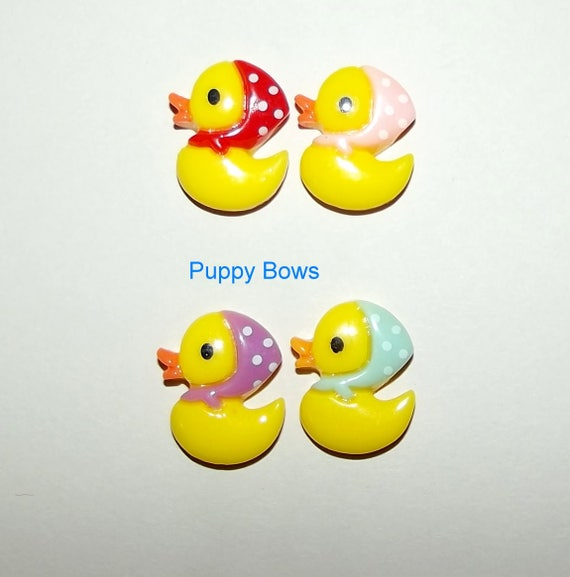 Puppy Bows ~ Easter chicks dog hair barrette pet grooming clip