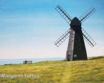 Rottingdean Windmill, watercolour painting