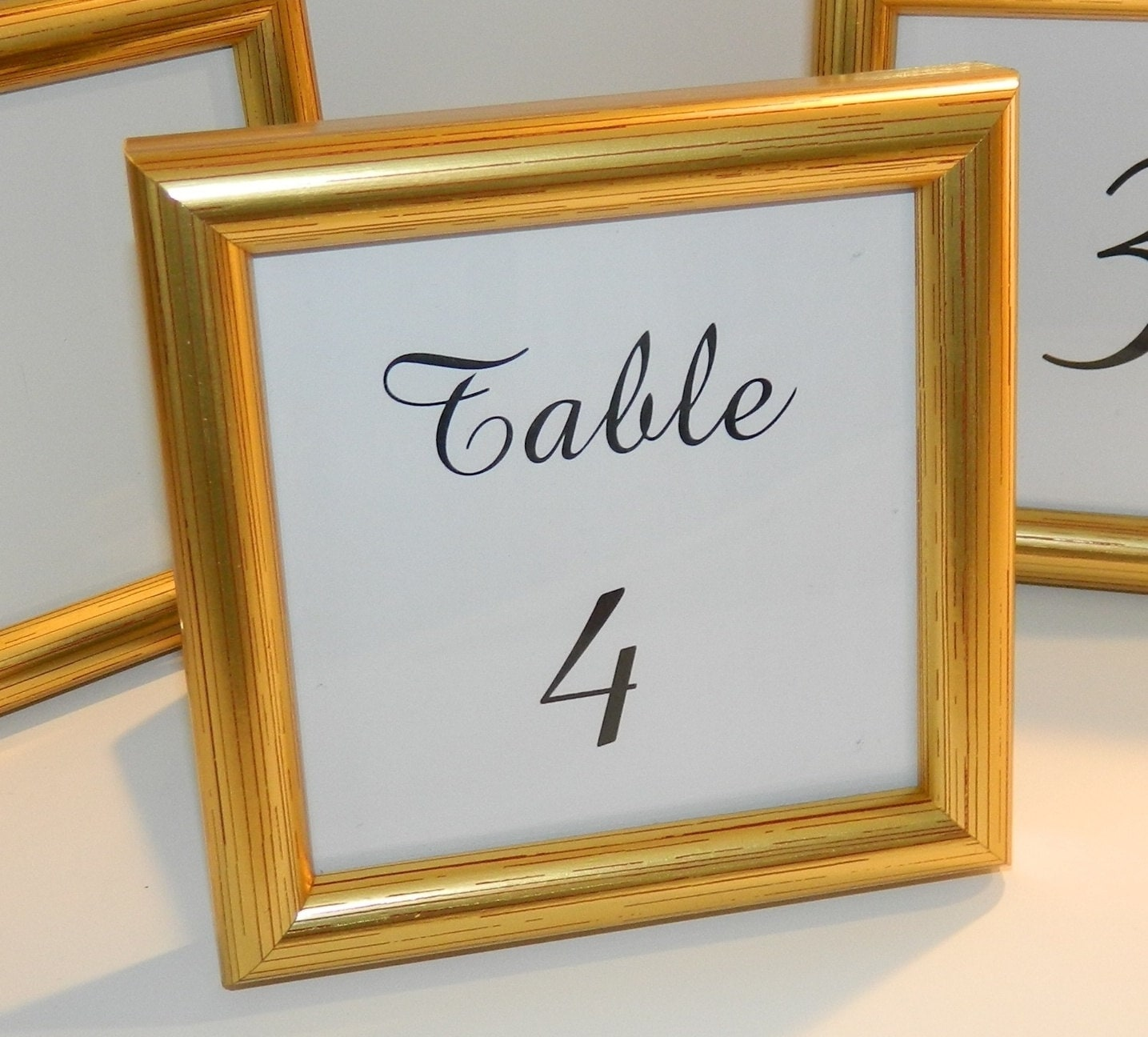 SPECIAL - Small Gold Frame for Wedding Table Numbers, Party Favors ...