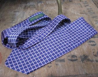 Ede and Ravenscroft Tie, Blue Silk Tie, Silk Necktie, Vintage Silk Tie, Vintage Necktie, Mens Necktie, Vintage Silk Tie, English Silk Tie