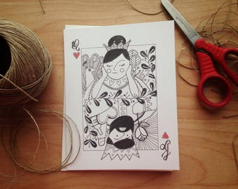 Valentine's Day Card, Greeting card - King of hearts