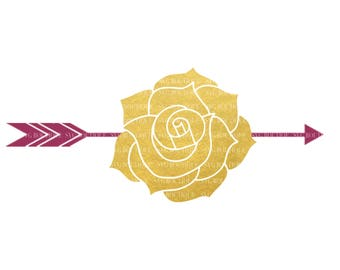 Tribal Rose SVG File, Floral Arrow SVG File, Arrow Rose, Tribal Arrow SVG, Boho File, Floral svg Cut Files, Bundle, Cricut, Silhouette
