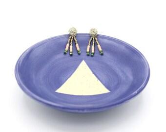 Beaded Drop Tassel Earrings - Metallic Gold, Purple, Pink, Green - Beaded Earrings - Colorblock Tassel Earrings by Ashdel