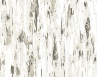 Tree Fabric, Aspen Bark - Friendly Gathering by Michael Davis for Wilmington Fabric - 96426 129 Taupe Gray - Priced by the half yard