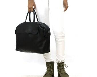 Sale!!! Black leather bag woman leather messenger bag for woman Laptop messenger bag crossbody bag, Leather laptop bag