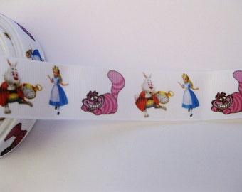 """Alice In Wonderland Grosgrain 1"""" Ribbon (1Yard)"""