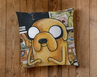 Decorative Pillow of Jake the Dog from Adventure Time