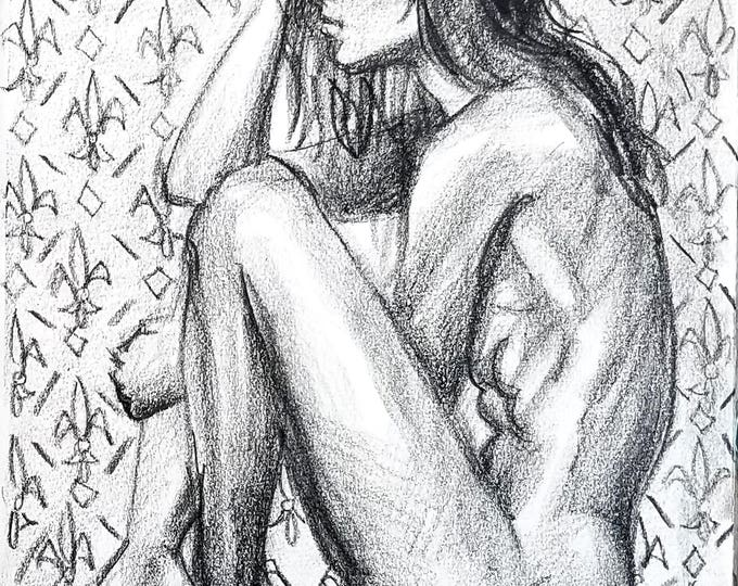 Bad News, 11x14 inches, crayon on cotton paper by Kenney Mencher