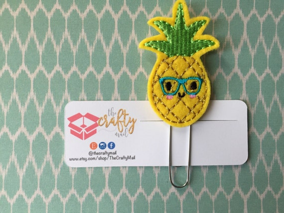 Nerdy Geeky Pineapple Paper Clip/Planner Clip/Bookmark