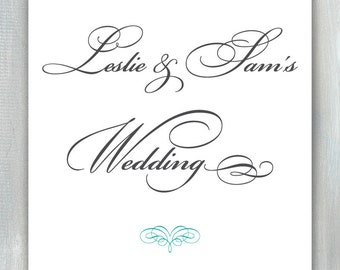 Wedding Sign PDF