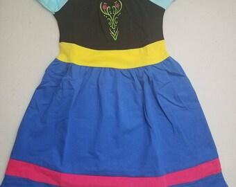 Girls Anna Inspired Dress