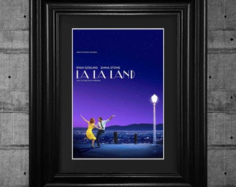 La La Land Ryan Gosling Movie Poster Print Pop Art Framed Wall Art Tribute Collectible Quality Gifts For Her Gifts For Him #5