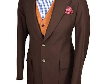 42L Brown Cosmopolitan Men's Vintage Blazer
