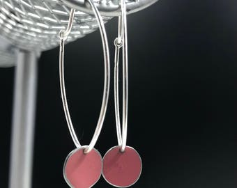 Recycled Tin Circle Drop Earrings